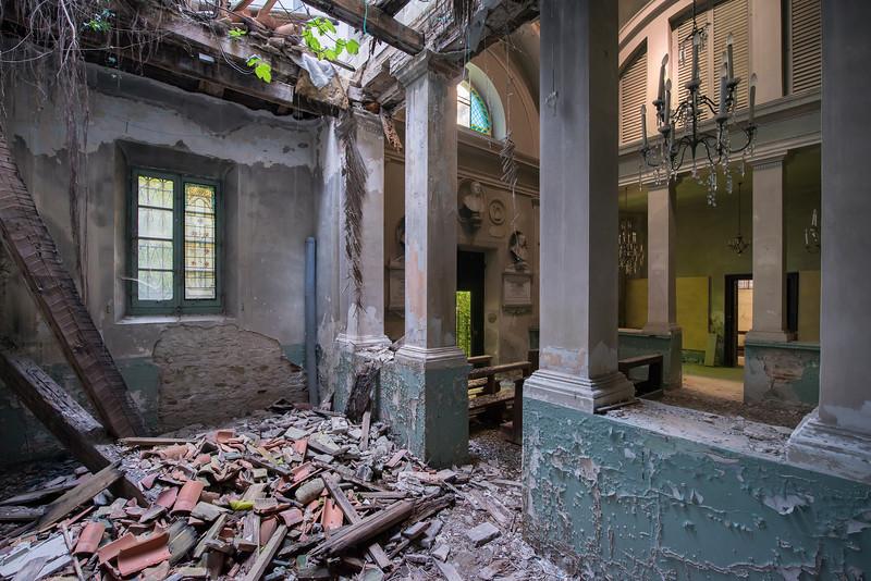 Asylum - chapel inside an abandoned asylum.