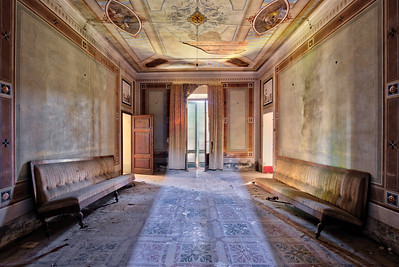 Breakthrough - Harsh light coming in from the window behind me in an abandoned villa