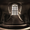 The most beautiful stairs inside an abandoned castle. - Chateau de Loup