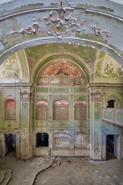Green Divine - Abandoned colourful church