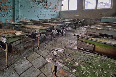 Globe - Pripyat classroom Chernobyl Exclusion Zone 2010