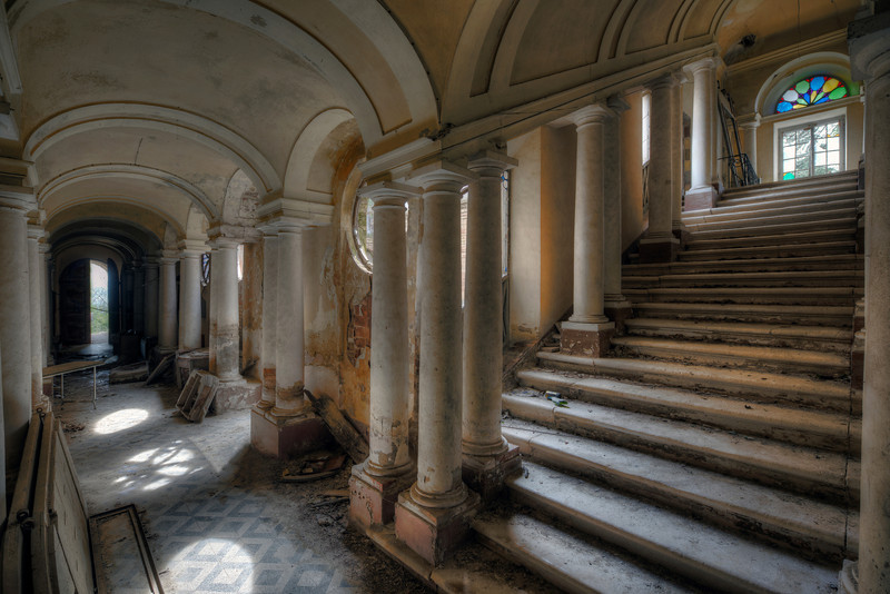 Roman - This abandoned villa with it's  garden filled with massive columns and statues must have looked like a true palace in the good days.