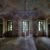 The Lord's Lair - Decorated ceiling inside a massive abandoned villa