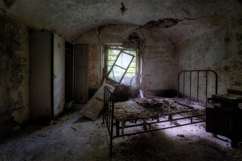 The Attic - Creepy room in the attic of a former mental hospital.