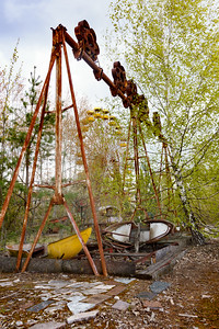 Swing in the Pripyat amusement park, near Chernobyl