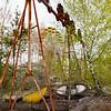 Swing in the Pripyat amusement park, near Chernobyl