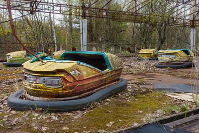 Bumper cars in Pripyat, Chernobyl