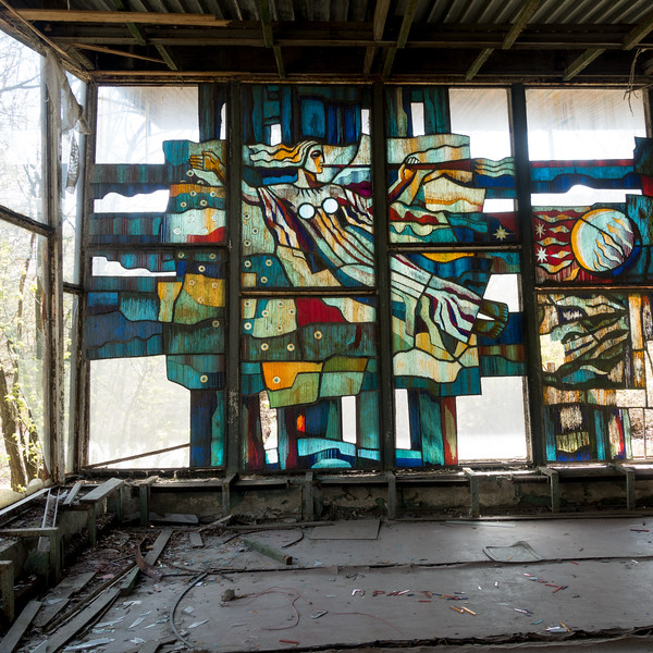 The fluvial port, Chernobyl