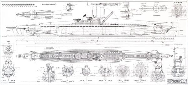 Plan calque U-BOAT Type IX