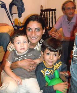 Gaby with Ignacio and Fecundo