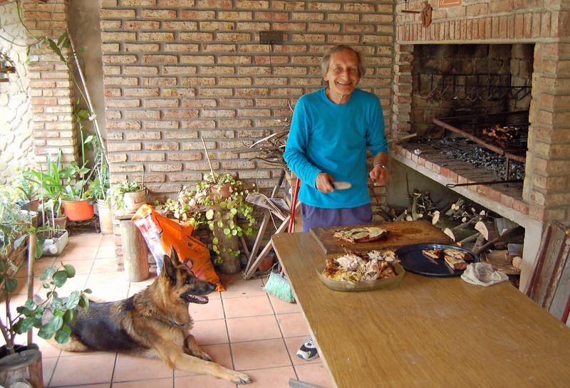 Adolfo cooking at the Parillia