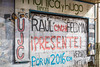 Street art on buiildings in Montevideo, Uruguay, South America.