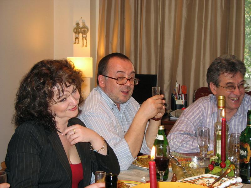 Having a good laugh. Irina, Dima & the birthday boy. (2007)