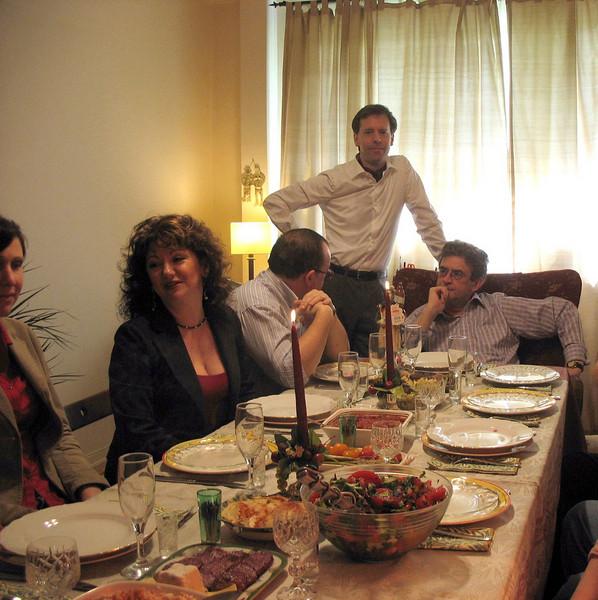 Time to eat. Irina, Dima, David, Rustem (2007)