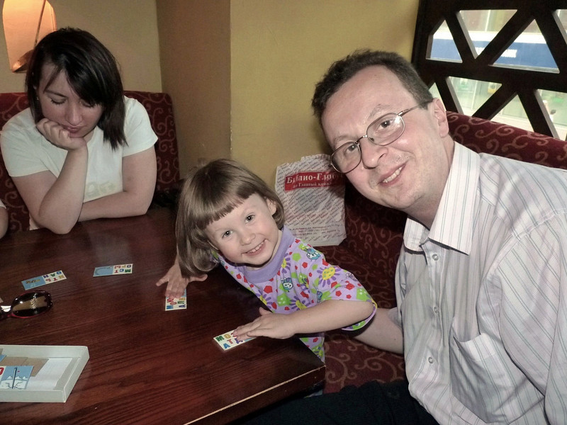Dima Babich with his daughter, Angelina, & Ruslan's wife, Tamara.