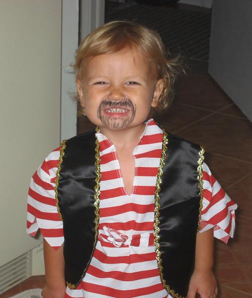 Joshua, the Halloween pirate.