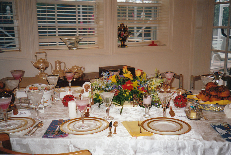 Thanksgiving table at Mom's. (2004)