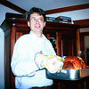 Presenting the turkey. Thanksgiving. Watertown. (1999)