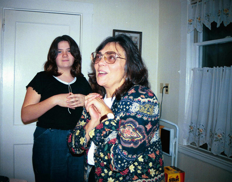 Joyce & Jackie Poole. Thanksgiving. Watertown (1999)