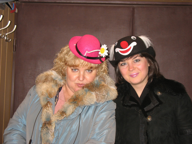 """Natasha & Vika didn't quite """"get"""" Thanksgiving. They came in costume. (2007)"""