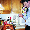 Contemplating the turkey. Thanksgiving. Watertown. (1999)