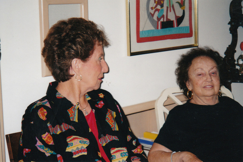 Mom with our dear family friend, Myra Blatt. Thanksgiving. Florida (2004)
