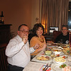 New Year's Eve dinner. Dmitry & Irina Petrov and Rustem. (12.31.08)