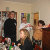 Rustem, Dima Petrov opening present, his wife, Irina and, in the foreground, Viola.