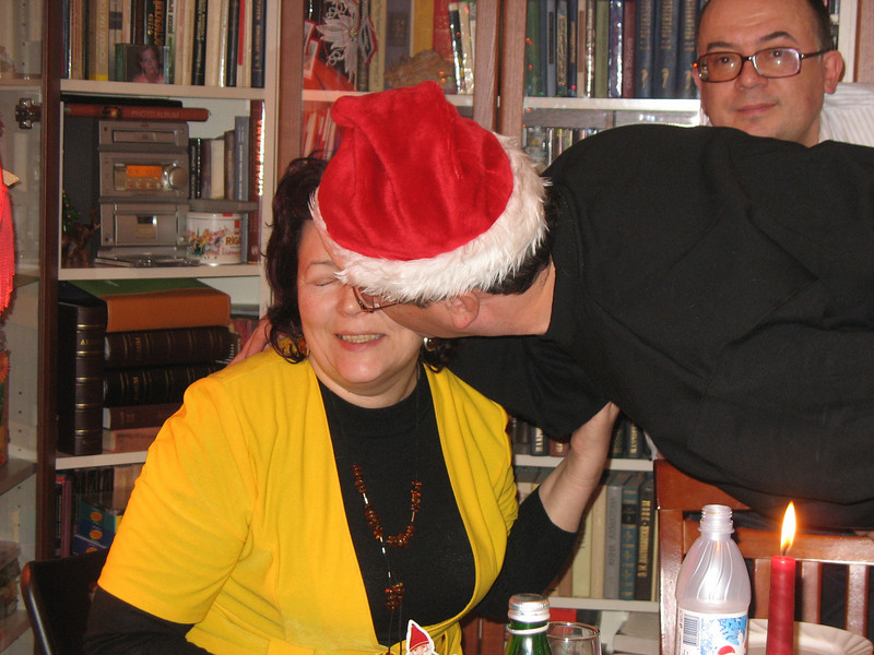Rustem & Galya with Dima in the backrgound.