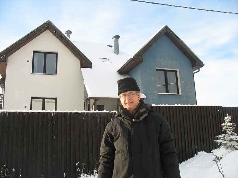 In front of Rumia's house. New Year's Day 2010.