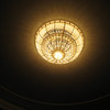 Theater's crystal chandelier.