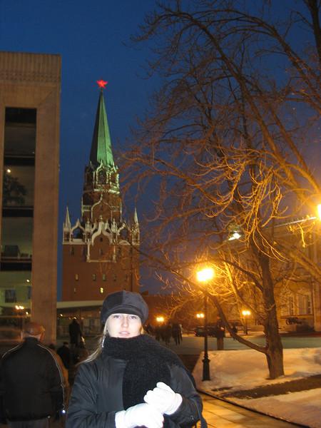 Cold night at the Kremlin