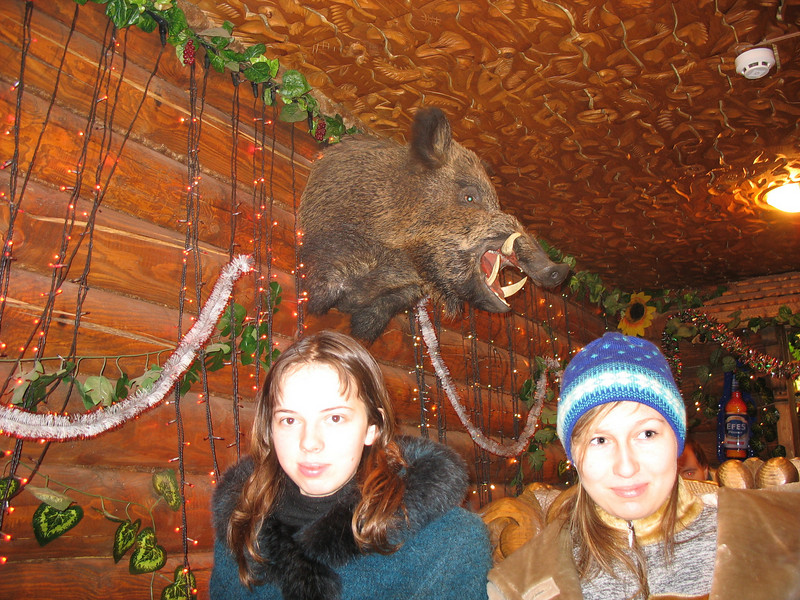 Two Nastiya's (both nieces) & a boar.
