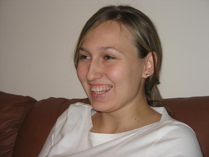 Enjoying herself on Orthodox Christmas Eve