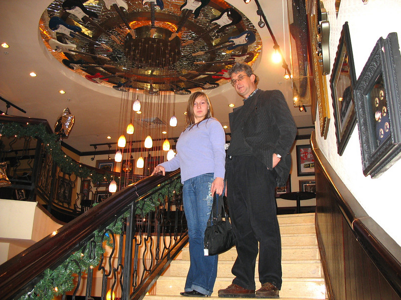 Hard Rock staircase.