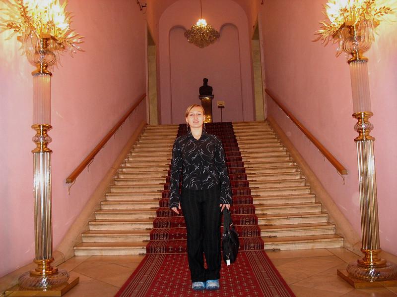 Blue booties at the Tretakov Gallery