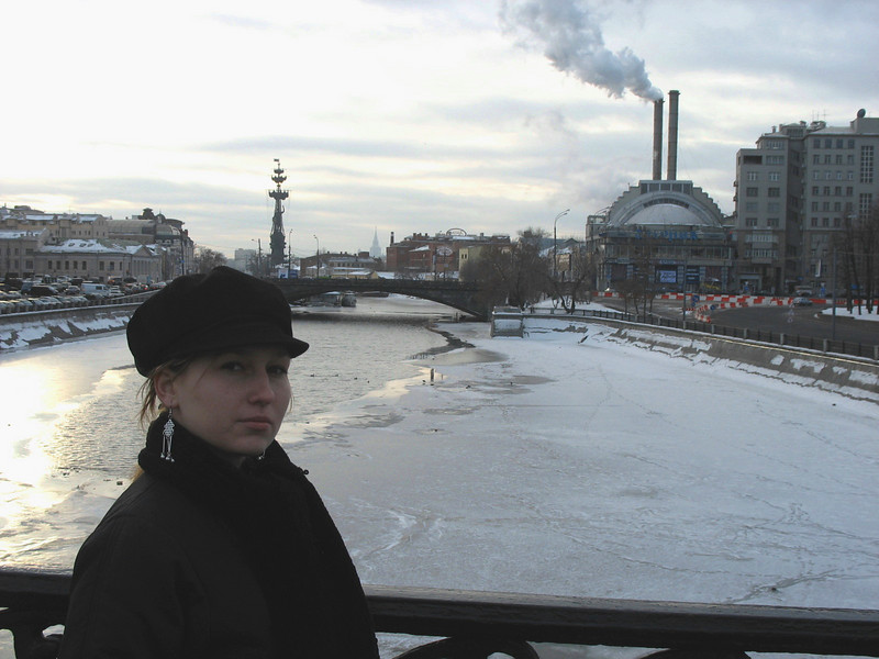 A cold day (-35 celsius) overlooking the Moscow River