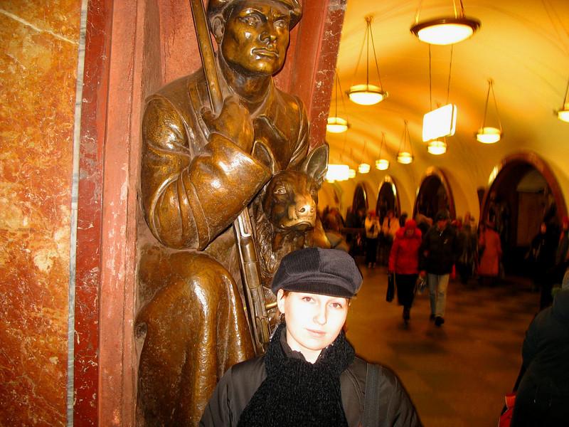 Nastiya - Moscow metro station 'Revolution Square'.