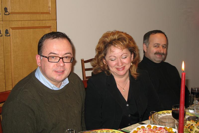 Dima, Ira, Ruslan - Orthodox Christmas Eve (Jan. 6, 2006)