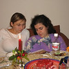 Nastiya & our friend, Masha - Orthodox Christmas Eve.