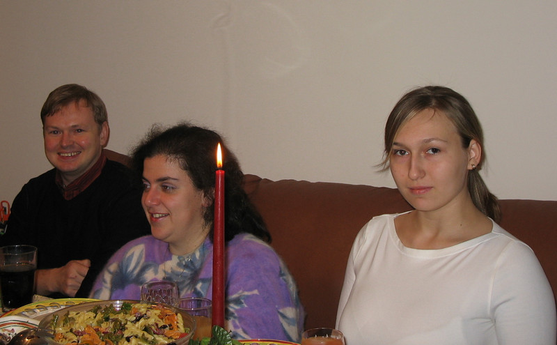 Alexei, Masha, Nastiya. Orthodox Christmas Eve (Jan. 6, 2006)