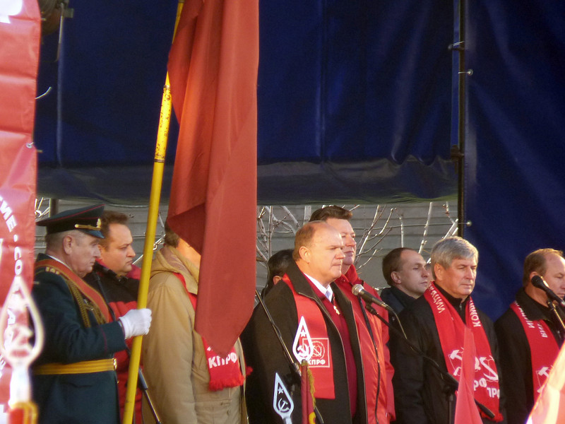 Gennady Zuganov, leader of the Communist Party. Known as 'Papa Zu', Zuganov hasn't been able to build an effective opposition party in Russia.