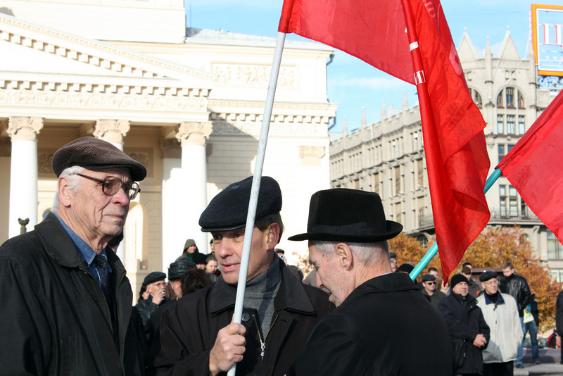 In front of the Bolshoi Theater. Great October Revolution Day. (11.7.2010)
