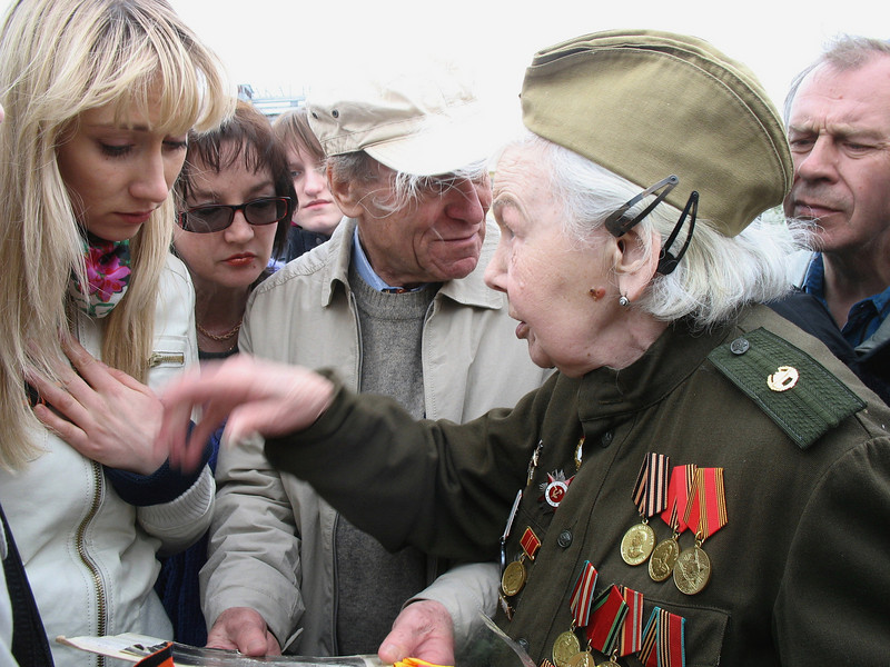 Listening to war time stories. (2008)
