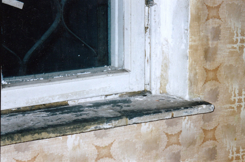 Window sill.