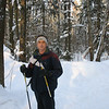 Skiing in our local forest (2007)