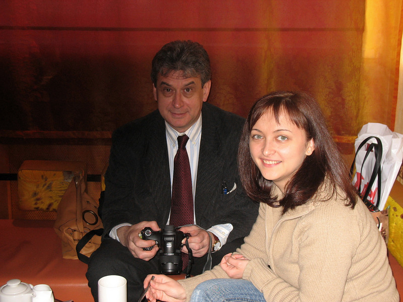 After the press conference we go for coffee with Natasha Denisova from the Governor's press office.