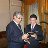 Receiving award from Kalmykian President Ilyumzhinov. Moscow May 15, 2009.