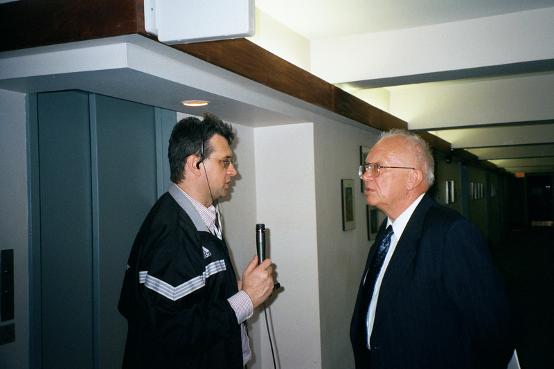 Interviewing Sergei Khrushev. Boston (2000)