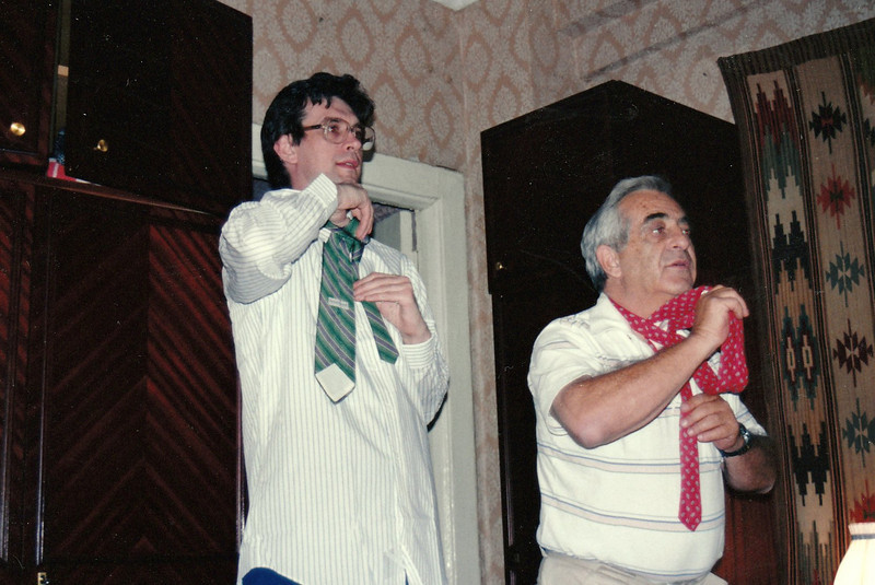 Dad visited Moscow in May 1993 & taught Rustem how to tie a tie.